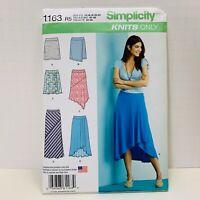 3afdd70fe348 New Simplicity Pattern1163 Misses Knit Skirt U.S. Sz 14-22 Factory folded  Uncut