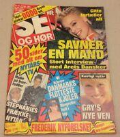"""Gitte Nielsen Stallone +Stephanie Monaco Vtg Danish Magazine 1987 """"Se og Hoer"""""""
