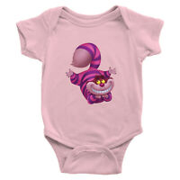 Cheshire Cat Infant Baby Rib Bodysuit baby shower Gift Alice in Wonderland