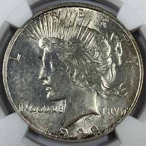 1922-D United States Silver Peace Dollar - NGC MS61