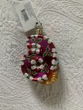 Christopher Radko 12 days of Christmas #6 Holiday Lay Away Geese Gem Ornament