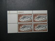 CANAL ZONE C40 PLATE BLOCK MINT  NH OG