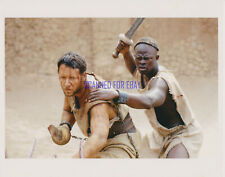Gladiator Russell Crowe Djimon Hounsou Great Action 8X10 Photo