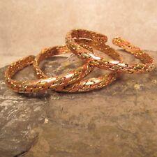 Set of 3 Tibetan Nepal Copper Brass Braided Unisex Adjustable Cuff Bracelet
