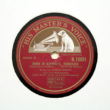 "DINAH SHORE ""Down In Nashville, Tennessee / Too Late Now"" HMV B-10081 [78 RPM]"
