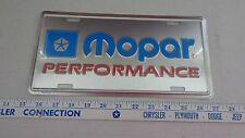Mopar Dodge Plymouth MOPAR PERFORMANCE LICENSE PLATE on sliver background