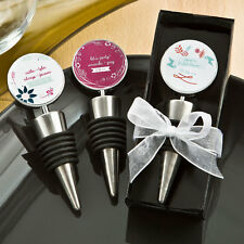 24 Personalized Vintage Theme Bottle Stoppers Bridal Shower Wedding Favors