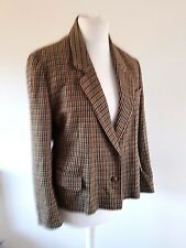 Vintage Ladies Jacket St. Michael M&S 100% Wool Houndstooth Fully Lined Size 14