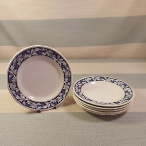 "WEDGWOOD OF ETRURIA & BARLASTON BLUE LAUREL SIDE TEA BREAD PLATE 6"" X6"