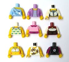 Lego 9 Assorted Torso Body For Female Girl Minifigure  Princess Mermaid & More