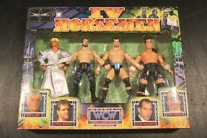 1999 ToyBiz WCW IV Horsemen 4-Pack Ric Flair, Chris Benoit, Dean Malenko New MIB