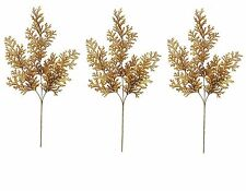 "Artificial Brown Cedar Branch Sprays Set/3 Autumn Fall Florals 31"" NEW FL52248BN"