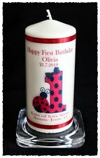 1st Birthday candle personalised gift ladybird design   #6