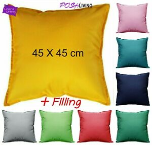 Outdoor Cushions WATERPROOF Garden Furniture Cushion Pad FILLED Square 45 x 45cm