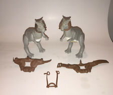 Vintage 1979 Kenner Star Wars Tauntaun Lot Open And Closed Belly Figures