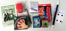 BIG BEGINNER MAGIC SET Kit Magician Wand Pen Thru Dollar Sponge Ball Card Book