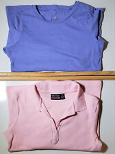 Lot of 2 Shirts Size 8-10 Pink Nautica Polo & Scout + Ro Basic Tee Purple 10