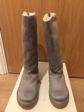 STELLA MCCARTNEY Kids Grey Faux Fur Lined Flat Boots Size EU 28