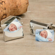 Personalised Photo Envelope Cufflinks Birthday Wedding Father's Dad Anniversary
