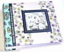 EV-246F Pioneer Photo Album 200 Pictures 4x6 Purple Green Book Bound Frame Polka