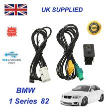For BMW 1 E82 USB Aux Switch & USB Wire 3.5mm AUX Cable Adapter 3CD 035 249 A