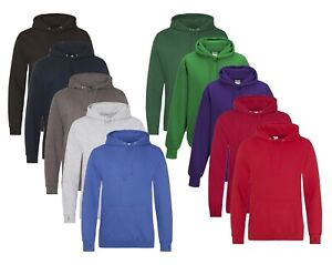 Mens Unisex Street Cotton Rich Hoodie Hooded Sweatshirt with Thumb Holes