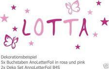 Markenlose Deko-Wandtattoos & Wandbilder im Kinder-Stil mit Buchstaben- & Zahlen-Thema