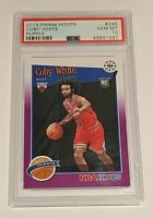 Coby White ROOKIE PSA 10 GEM MINT 2019 Panini Hoops PURPLE Chicago Bulls