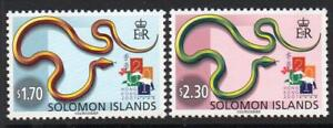 "SOLOMON MNH 2001 SG988-89 International Stamp Exhibition ""Hong Kong 2001"""
