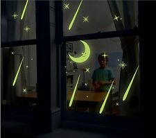 Glow In The Dark Wall Stickers Moon and Shooting Stars Luminous Removable Decal