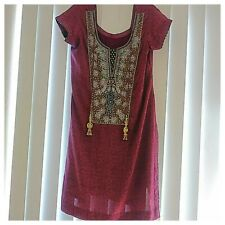 Pakistan Indian Purple Rhinestone Dress