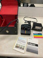 Polaroid One Step Plus Rainbow Land Camera with Q-Light Flash Manual Case