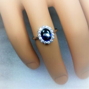 Princess Diana & Kate engagement ring.Sterling silver marked 925 size S (video2)