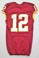 #12 No Name of Washington Redskins NFL Locker Room Game Issued Jersey