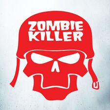 Zombie Killer Teschio Casco Auto/Laptop/Wall Art Decalcomania In Vinile/Finestra Adesivo Rosso