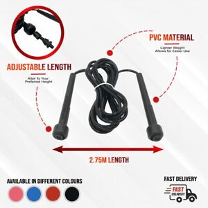 Adjustable Skipping Rope Boxing Fitness Speed Jump Rope Adult Kids Free P&P
