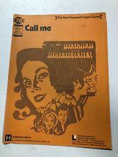 Call Me New Hammond Organ Course 1958 Vintage Organ Sheet Music
