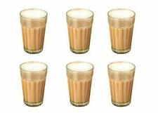 Indian Thadi Tea Glasses Cutting Chai Glass 100ml 6 Pcs Set Tea Cups Clear Look