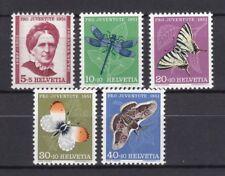 Schweiz 1951 postfrisch MiNr. 561-565  Pro Juventute  Insekten