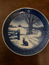 royal copenhagen blue collectible Christmas Plate 1971