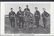 Military Postcard - Soldiers - Officers of The 77th Field Battery   DR619