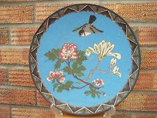 """Antico Giapponese dell'era Maji Caricatore PIASTRA CON BIRD & Blossom 1880-1900 ~ 12"""""""