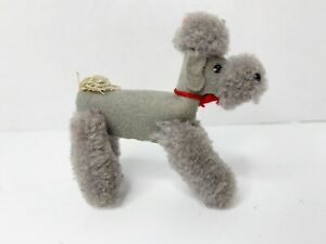 Steiff Wool Poodle Grey Plush 1506 Muffie's Pal Bild Lilli German Felt RARE!!!