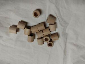 VINTAGE Wooden Tinker Toy Part Lot: 15 wood end caps Replacement Pcs
