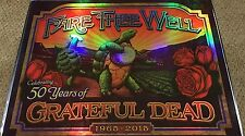 Fare Thee Well Grateful Dead GD50 LE S/N Terrapin Carroll Poster Foil