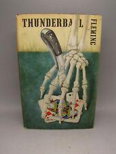 Thunderball Ian Fleming 1961 James Bond 1st ed 1st printing original DJ Book
