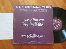 MICHAEL MANTLER No Answer LP GATEFOLD USA CARLA BLEY DON CHERRY POETRY JAZZ