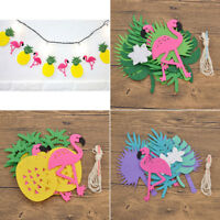 1PC Flamingo Pineapple Garland Leaves Tropical Summer Party Decor Banner Bunting
