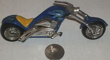 """Diecast Maisto Blue Chopped Motorcycle 5"""" USED - NICE (See Photo)"""