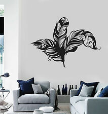 Vinyl Wall Decal Beautiful Feathers House Interior Stickers Mural (ig4131)